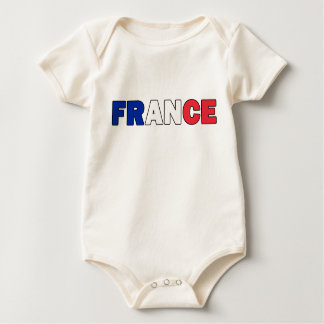 Frankreich Baby Strampler