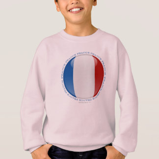 Frankreich-Blasen-Flagge Sweatshirt