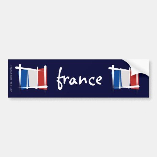 Frankreich-Bürsten-Flagge Auto Aufkleber