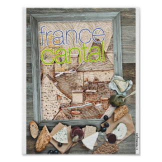 FRANKREICH CANTAL POSTER