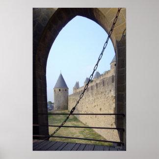 Frankreich - Carcassonne - Zugangsbrücke Poster