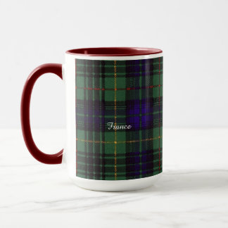 Frankreich-Clan karierter schottischer Kilt Tartan Tasse