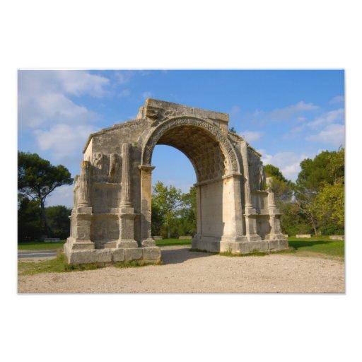 Frankreich, De Provence, Triumphbogen St. Remy Fotografischer Druck