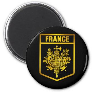 Frankreich-Emblem Runder Magnet 5,7 Cm