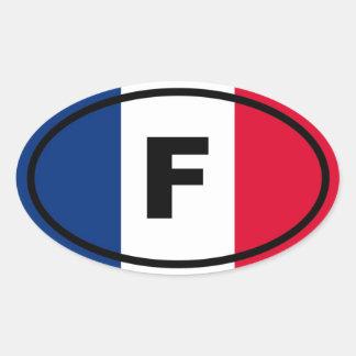 Frankreich - F - Europäer Ovaler Aufkleber