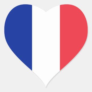 Frankreich-Flagge Herz Aufkleber