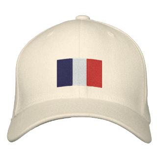 Frankreich Flagge gestickter flexfit Wollehut Bestickte Baseballkappe
