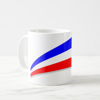 Frankreich-Flagge Kaffeetasse