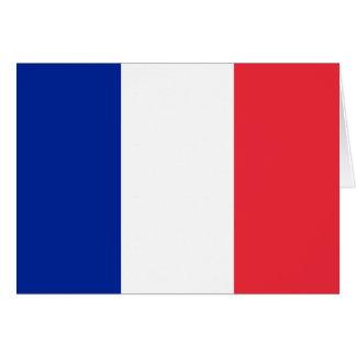 Frankreich-Flagge Mitteilungskarte