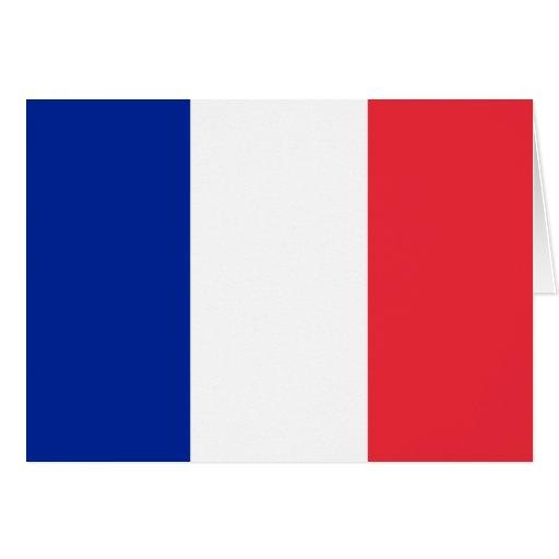 Frankreich-Flagge Grußkarten