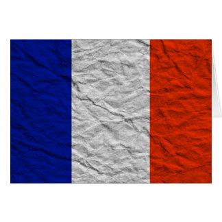 Frankreich-Flagge Karte