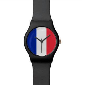 Frankreich-Flagge Uhr