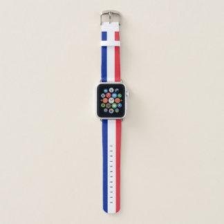 Frankreich-Flaggen-Apple-Uhrenarmband Apple Watch Armband