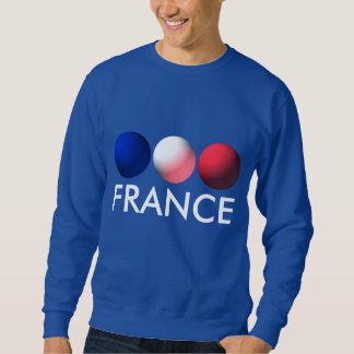 Frankreich-Flaggen-blaue, weiße und rote Bereiche Sweatshirt