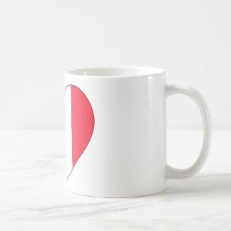 Frankreich-Flaggen-Herz Kaffeetasse