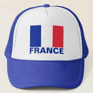 Frankreich-Flaggen-kundengerechter blauer Text Truckerkappe