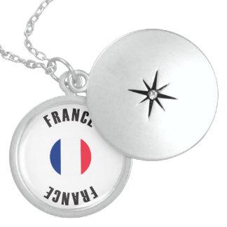 Frankreich-Flaggen-Rad Medaillon