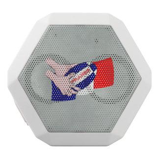 Frankreich-Flaggen-Rugby-Ball-Cartoon-Hände Weiße Bluetooth Lautsprecher