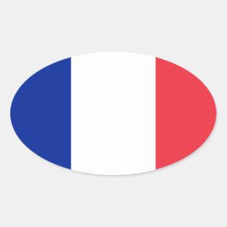 Frankreich-Flaggenentwurf Ovaler Aufkleber