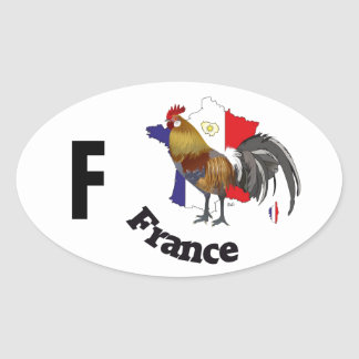 Frankreich - France Kleber Ovaler Aufkleber