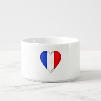 Frankreich-Franzose-Flagge Schüssel
