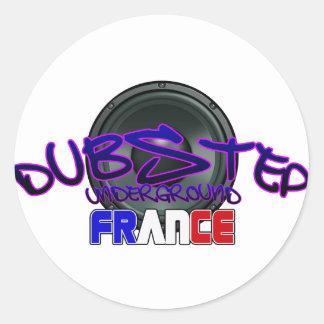 Frankreich französisches DUBSTEP Runde Sticker
