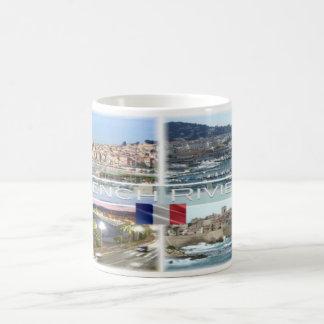 Frankreich - französisches Riviera - Côte d'Azur - Kaffeetasse