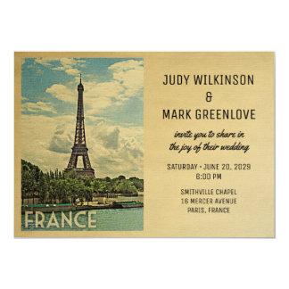 Frankreich-Hochzeits-Einladungs-Paris-Eiffelturm Karte