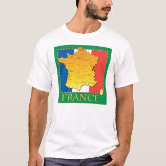Frankreich-Karten-T - Shirt