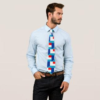 Frankreich Luxemburg kennzeichnet halbes Symbol Krawatte