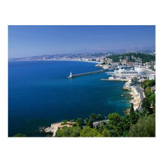Frankreich, Nizza, Luftaufnahme des Hafens Postkarte