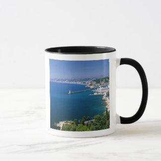 Frankreich, Nizza, Luftaufnahme des Hafens Tasse