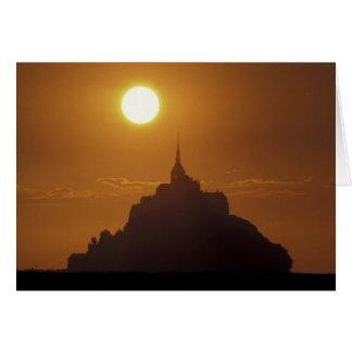 Frankreich, Normandie. Mont Heiliges Michele Karte