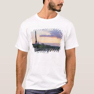 Frankreich, Paris, Ausflugboot auf Fluss die T-Shirt