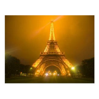 Frankreich, Paris. Eiffelturm belichtet bei 3 Postkarte