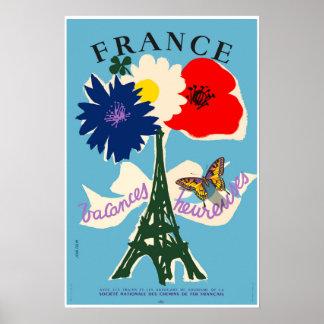 Frankreich, Reise-Plakat Poster
