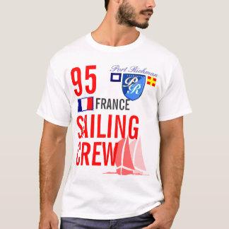 Frankreich-Segeln-Crew nautisch T-Shirt