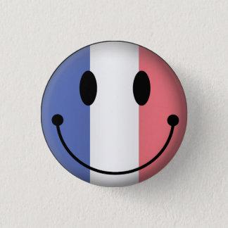 Frankreich-smiley Runder Button 3,2 Cm