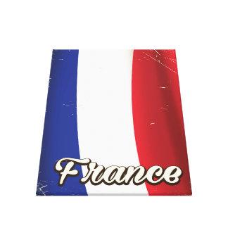 Frankreich-Staatsflaggeferienplakat Leinwanddruck