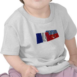 Frankreich u Seine-Saint-Denis die Flaggen welle Hemden