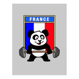 Frankreichweightlifting-Panda Postkarte