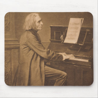 Franz Liszt am Klavier Mousepad