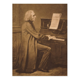 Franz Liszt am Klavier Postkarte