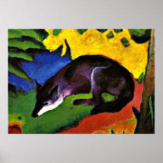 Franz Marc - blauer Fox Poster