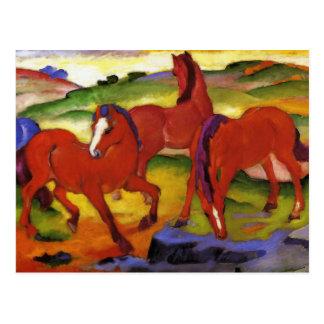Franz Marc, der Pferdepostkarte weiden lässt Postkarte