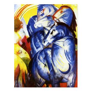 Franz Marc der Turm der blauen Pferdepostkarte