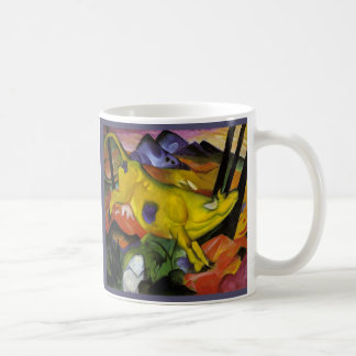 Franz Marc - die gelbe Kuh - Expressionist-Kunst Kaffeetasse