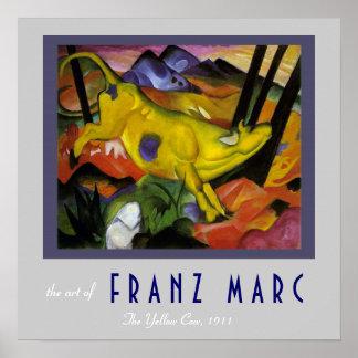 Franz Marc - die gelbe Kuh - Expressionist-Kunst Poster
