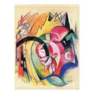 Franz Marc - farbige Blumen Postkarte