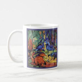 Franz Marc - Rogen-Damhirschkuh im Wald - Kaffeetasse